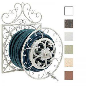 CLP Porte Tuyau Mural ARNOLD, Porte Tuyau d´arrosage en Métal Stabile et Galvanisé, Style nostalgique Ultra elegant, Couleur au Choix: blanc antique de la marque CLP image 0 produit