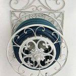 CLP Porte Tuyau Mural ARNOLD, Porte Tuyau d´arrosage en Métal Stabile et Galvanisé, Style nostalgique Ultra elegant, Couleur au Choix: blanc antique de la marque CLP image 1 produit