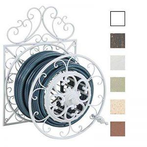 CLP Porte Tuyau Mural ARNOLD, Porte Tuyau d´arrosage en Métal Stabile et Galvanisé, Style nostalgique Ultra elegant, Couleur au Choix: blanc de la marque CLP image 0 produit