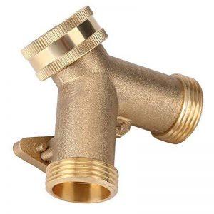 Connecteur robinet Y Forme 2 Voies en Laiton Tuyau Adaptateur Col de Cygne Tuyau D'arrosage Vanne Connecteur Jardin 3/4(EU) de la marque Fdit image 0 produit