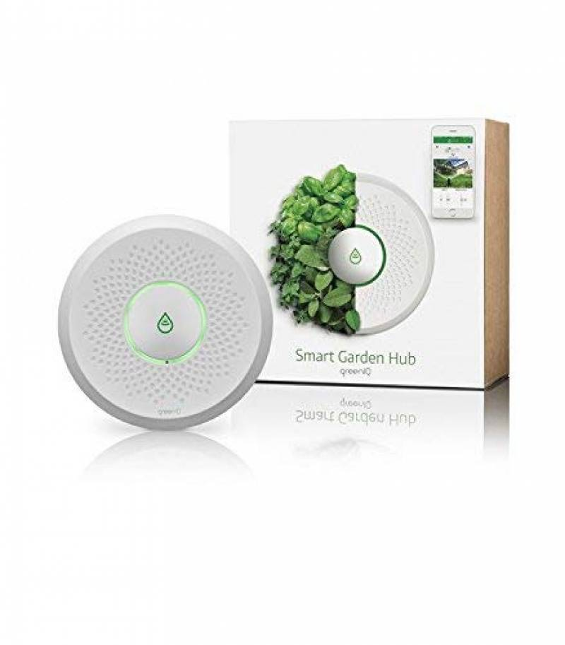 GreenIQ Programmateur pour Arrosage Automatique WIFI 6 Zones Vert 15 x 15 x 5,3 cm Console de Jardin Intelligente GreenIQ
