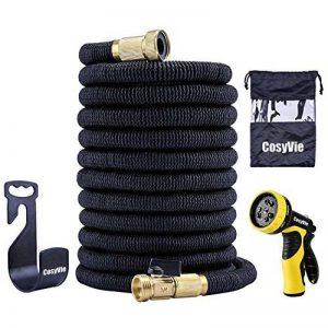 CosyVie Kit de Tuyau d'Arrosage Extensible jusqu'à 15 Mètre(50ft) Tuyau Flexible et Retractable avec Pistolet de 9 Fonctions Professionnels pour Jardin d'Arrosage(Crochet de Tuyau d'Arrosage Inclus) de la marque CosyVie image 0 produit
