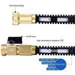 CosyVie Kit de Tuyau d'Arrosage Extensible jusqu'à 15 Mètre(50ft) Tuyau Flexible et Retractable avec Pistolet de 9 Fonctions Professionnels pour Jardin d'Arrosage(Crochet de Tuyau d'Arrosage Inclus) de la marque CosyVie image 2 produit