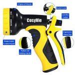 CosyVie Kit de Tuyau d'Arrosage Extensible jusqu'à 30 Mètre(100ft) Tuyau Flexible et Retractable avec Pistolet de 9 Fonctions Professionnels pour Jardin d'Arrosage(Crochet de Tuyau d'Arrosage Inclus) de la marque CosyVie image 2 produit