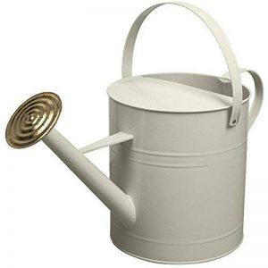 Crazygadget® Arrosoir en acier galvanisé coloré avec pomme d'arrosage en laiton 9 l crème de la marque CrazyGadget image 0 produit