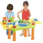 deAO Table d'Eau et Sable avec Double Compartiment et Couvercles Table de Jeu et Activités pour Enfants à Plein Air Comprend des Accessoires et des Moules de la marque deAO image 4 produit