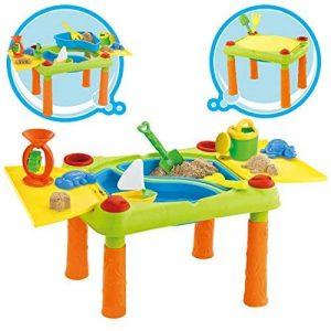 deAO Table d'Eau et Sable avec Double Compartiment et Couvercles Table de Jeu et Activités pour Enfants à Plein Air Comprend des Accessoires et des Moules de la marque deAO image 0 produit