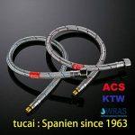Desfau Robinet G3/8 x M10 Tuyau de raccordement flexible Rallonge Tuyau d'alimentation pour robinet mitigeur de liaison longueur 500 mm de la marque Desfau image 1 produit