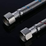Desfau Robinet G3/8 x M10 Tuyau de raccordement flexible Rallonge Tuyau d'alimentation pour robinet mitigeur de liaison longueur 500 mm de la marque Desfau image 4 produit