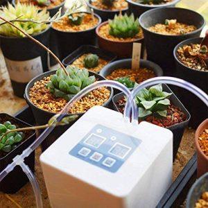DIY Système d'arrosage automatique de vacances d'arrosage Kit Système automatique micro d'arrosage de kit d'irrigation par égouttement micro de DIY avec la minuterie de 30 jours et la charge d'USB de la marque Zantec image 0 produit