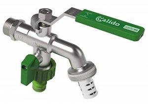 """Double sortie duo jardin extérieur robinet ball valve robinet 1/2 """"x 3/4"""" """"bsp x 3/4 de la marque Invena image 0 produit"""