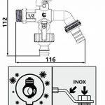 """Double sortie duo jardin extérieur robinet ball valve robinet 1/2 """"x 3/4"""" """"bsp x 3/4 de la marque Invena image 1 produit"""