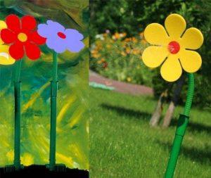 Drôle !!!! Asperseur fleur folle pâquerette jaune pour pelouse jardin de la marque Flo image 0 produit