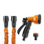 DURAMAXX Flex 22 - Tuyau d'arrosage flexible de 22,5m enroulage automatique et pistolet 8 jets (connecteur rapide, adaptateur robinet inclus) - orange de la marque OneConcept image 3 produit