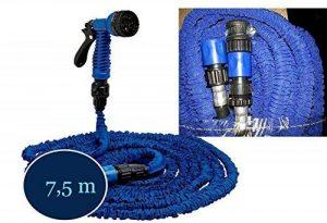 EASTWHARF® -TUYAU D'ARROSAGE SPIRALE AVEC PISTOLET REGLABLE 7,5M ATTAQUE EN METAL de la marque Ideal image 0 produit