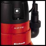 Einhell Pompe d'évacuation pour eaux chargées GH-DP 3730 (370 W, Débit max. 9.000 l/h, Hauteur de refoulement 5 m, Profondeur d'immersion 5 m, Hauteur d'aspiration 40 mm) de la marque Einhell image 2 produit