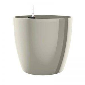 Emsa Pot de fleurs, système d'arrosage automatique, Ø 30cm, gris Soie, Casa brillant, 517570 de la marque Emsa image 0 produit