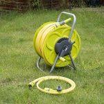 Ensemble de tuyau 50 m et bobine de tuyau d'arrosage de jardin enrouleur de tuyau sur pied Tube Troley Cart de la marque Quantum image 3 produit