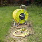 Ensemble de tuyau 50 m et bobine de tuyau d'arrosage de jardin enrouleur de tuyau sur pied Tube Troley Cart de la marque Quantum image 4 produit