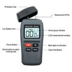 ERAY Humidimètre du Bois avec Écran LCD Rétroéclairé Numérique - Testeur de l'Humidité Détecteur de l'Humidité pour Mesurer le Pourcentage d'eau dans le Bois 1%~99% RH, 4 AAA Piles Founies de la marque ERAY image 2 produit