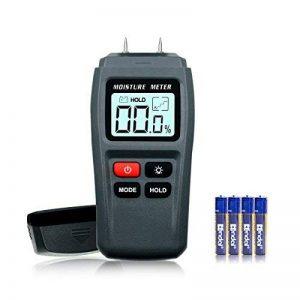 ERAY Humidimètre du Bois avec Écran LCD Rétroéclairé Numérique - Testeur de l'Humidité Détecteur de l'Humidité pour Mesurer le Pourcentage d'eau dans le Bois 1%~99% RH, 4 AAA Piles Founies de la marque ERAY image 0 produit