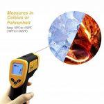 Etekcity 1080 Thermomètre Infrarouge Sans Contact Laser de -50°C à 550°C avec Ecran LCD Rétroéclairé, Pile fournie, Garantie 2 Ans, Jaune de la marque ETEKCITY image 3 produit