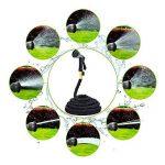 EVER RICH Lusanity - Tuyau Lusanity de 30,5 m - Tube intérieur à double couche de latex robuste et en cuivre pour prévenir les fuites - Flexible de jardin extensible (avec valve) avec tissu très robuste, qualité professionnelle, noir de la marque EVER RIC image 4 produit