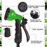 extensible Jardin Tuyau d'eau–3fois extensible et pistolet à antifuite avec fixations en laiton et flexible Crochet/Hanger 15,2m Magic-hose tuyaux (Vert) de la marque AILUZE image 1 produit
