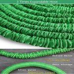 extensible Jardin Tuyau d'eau–3fois extensible et pistolet à antifuite avec fixations en laiton et flexible Crochet/Hanger 15,2m Magic-hose tuyaux (Vert) de la marque AILUZE image 2 produit