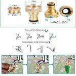 extensible Jardin Tuyau d'eau–3fois extensible et pistolet à antifuite avec fixations en laiton et flexible Crochet/Hanger 15,2m Magic-hose tuyaux (Vert) de la marque AILUZE image 3 produit