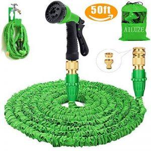 extensible Jardin Tuyau d'eau–3fois extensible et pistolet à antifuite avec fixations en laiton et flexible Crochet/Hanger 15,2m Magic-hose tuyaux (Vert) de la marque AILUZE image 0 produit