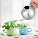 Fdit Arrosoir Pot Arrosage de capacité élevée en Acier inox Design Demi-ouvert pour Plantes Patio jardins bureau intérieur en plein air 1L de la marque image 1 produit