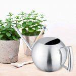 Fdit Arrosoir Pot Arrosage de capacité élevée en Acier inox Design Demi-ouvert pour Plantes Patio jardins bureau intérieur en plein air 1L de la marque image 2 produit