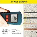 Fetanten détecteur de goujon de détection de métaux, détecteur d'angle numérique et détecteur de câble pour bois / profond, détecteur de goujons et détecteur de métaux avec écran LCD, testeur de câble pour AC Live Wire, 4 en 1 Multi Tools Détecteurs de mé image 3 produit