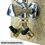 Filtrotech Raccord en Y pour tuyaux d'arrivée d'eau avec robinet d'arrêt 2 voies pour lave-vaisselle ou machine à laver de la marque Filtrotech GmbH image 2 produit