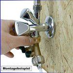 Filtrotech Raccord en Y pour tuyaux d'arrivée d'eau avec robinet d'arrêt 2 voies pour lave-vaisselle ou machine à laver de la marque Filtrotech GmbH image 3 produit