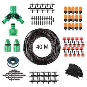 FIXKIT 40M Kit Micro Irrigation Goutte à Goutte Irrigation de Jardin Micro-Goutte Kit Automatique d'Arrosage de Tuyau DIY Système d'Arrosage Version Améliorée pour Jardin Serre Potager Pelouse de la marque Fixkit image 0 produit