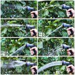 FIXKIT Tuyau d'arrosage Tuyau Flexible Tuyau d'eau Tuyau Extensible à 8 Fonctions Elastique Flexible pour Irrigation et Nettoyage du Jardin Noir 15 m/22m/30m (23m) de la marque Fixkit image 5 produit