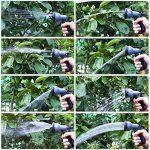 FIXKIT Tuyau d'arrosage Tuyau Flexible Tuyau d'eau Tuyau Extensible à 8 Fonctions Elastique Flexible pour Irrigation et Nettoyage du Jardin Noir (30m/50FT) (15m) de la marque FIXKIT image 5 produit