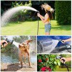 FIXKIT Tuyau d'arrosage Tuyau Flexible Tuyau d'eau Tuyau Extensible à 8 Fonctions Elastique Flexible pour Irrigation et Nettoyage du Jardin Noir (30m/50FT) (15m) de la marque FIXKIT image 6 produit