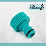 FixtheBog 25mm irrigation mdpe Kit pour robinet extérieur jardin avec plaque murale en plastique et raccord tuyau DCV de la marque FixtheDrip image 6 produit