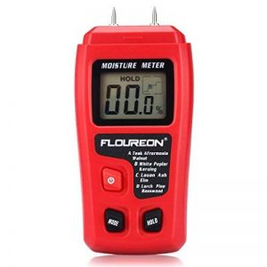 Floureon Humidimètre Numérique Portable à Pointes Testeur d'Humidité pour le Bois, le Bambou et le Bois de Chauffage de la marque Floureon image 0 produit