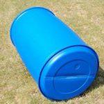 Fût à bonde 220 L couvercle L-ring, baril polyéthylène bleu (22118) de la marque Wilai image 3 produit