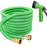 Garden Sprayer 100 Feet Expandable Hose With Brass Connectors, 7 Pattern Spray Nozzle And High Pressure, Expanding Garden Hose (100FT, Vert) de la marque Yartners image 3 produit