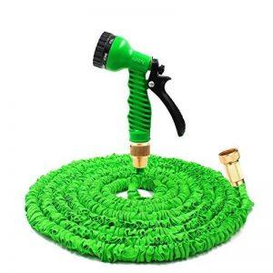 Garden Sprayer 100 Feet Expandable Hose With Brass Connectors, 7 Pattern Spray Nozzle And High Pressure, Expanding Garden Hose (100FT, Vert) de la marque Yartners image 0 produit