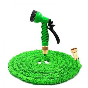 Garden Sprayer 100 Feet Expandable Hose With Brass Connectors, 7 Pattern Spray Nozzle And High Pressure, Expanding Garden Hose (100FT, Vert) de la marque Yartners image 0 produit