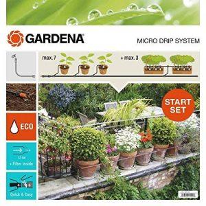Gardena 1300426 Kit d'irrigation Micro-Drip system pour 15 pots avec programmateur, Orange de la marque Gardena image 0 produit