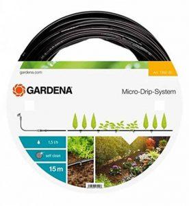 Gardena 136220 Tuyau d'irrigation à goutteurs intégrés 15 m - 4.6 mm - Noir de la marque Gardena image 0 produit