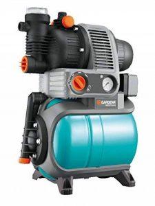 GARDENA 1754-20 Groupe de surpression 4000/5 eco Comfort: pompe domestique, protection contre la marche à sec, clapet anti-retour, 3 raccords, puissance du moteur 850W, débit 3500 l/h de la marque Gardena image 0 produit