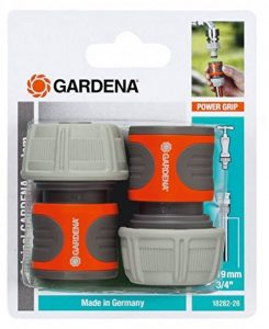 Gardena 18282-26 2 Raccords d'Arrosage Rapides pour Tuyau Plastique, Orange de la marque Gardena image 0 produit